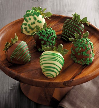 St Patrick39s Day Chocolate-Covered Strawberries - Half Dozen
