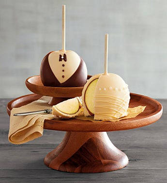 Bride and Groom Caramel Apples