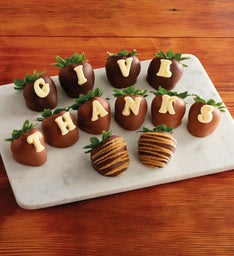 Give Thanks Chocolate-Covered Strawberries