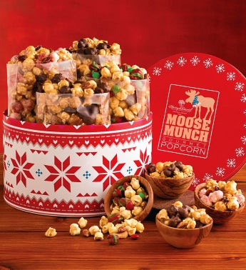 Holiday Moose Munch® Gourmet Popcorn Tin