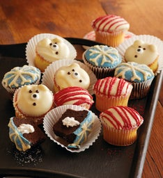 Holiday Chocolate-Dipped Cupcakes