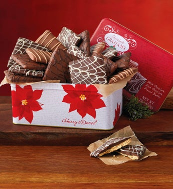 Holiday Chocolate Graham Crackers Tin