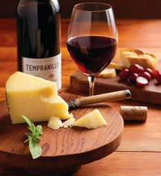 Spanish Manchego Cheese and Harry & David™ Tempranillo
