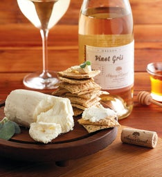 Laura Chenel's Honey Goat Cheese and Harry & David™ Pinot Gris
