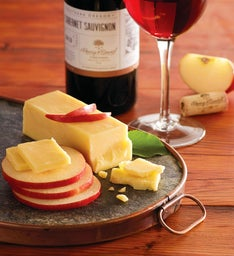 Seasonal Apples, Aged White Cheddar, and Harry & David™ Cabernet Sauvignon