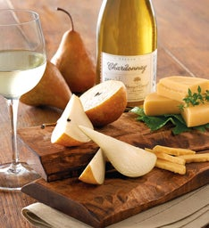 Bosc Pears, Gouda Cheese, and Harry & David™ Chardonnay