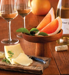 Grapefruit, TouVelle® Cheese, and Harry & David™ Pinot Gris
