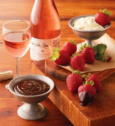Strawberries, Devonshire Cream, and Harry & David™ Pinot Noir Rosé