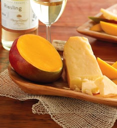 Mango, San Joaquin Gold Cheese, and Harry & David™ Riesling