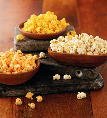The Popcorn Factory Three-Canister Savory Assortment
