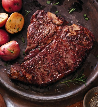 Stock Yards® Porterhouse Steaks – Two 16-Ounce USDA Choice
