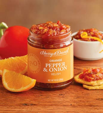 Pepper and Onion Relish with Orange