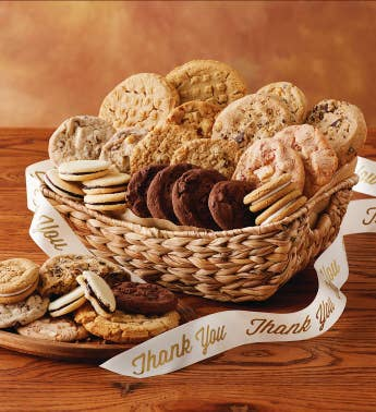 Cookies and brownie gift baskets cookie delivery harry david thank you cookie gift basket negle Image collections