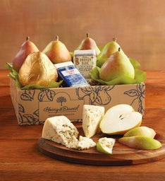 Royal Riviera® Pears with Rogue Creamery® Oregonzola® Blue Cheese and Smokey Blue® Cheese