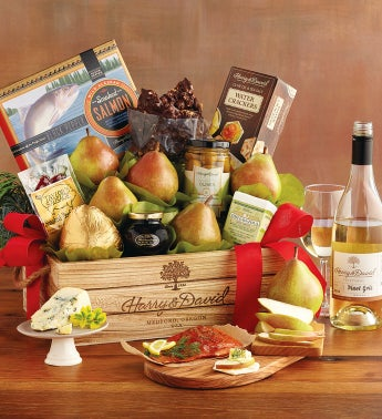 Deluxe Northwest Gift Basket with Wine