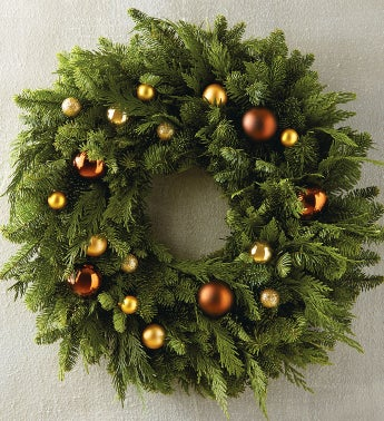 Champagne Ornament Wreath
