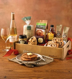 Brunch Gift Basket with Wine