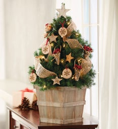 Birch and Burlap Christmas Tree