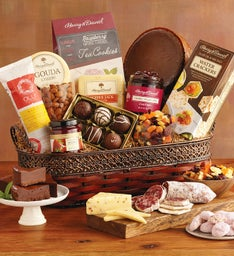 Vintage Gourmet Specialty Snacks Basket