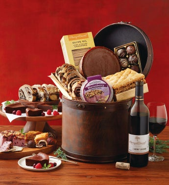 Gourmet Hatbox with Wine