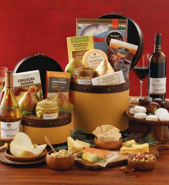Gourmet Hatbox Duo with Wine