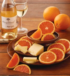 Cara Cara Oranges, Rogue Creamery® TouVelle® Cheese, and Harry & David™ Pinot Gris