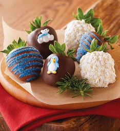 Winter Chocolate-Covered Strawberries - Half Dozen