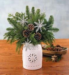 Holiday Evergreen Centerpiece