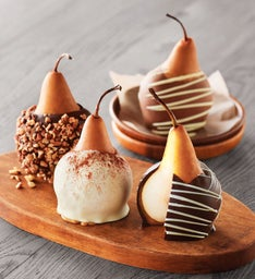 Chocolate Caramel-Covered Pears