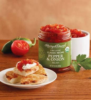 Organic gluten free christmas gifts harry david organic classic pepper and onion relish snipeimage negle Gallery