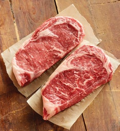 Stock Yards® Grass-fed Boneless Rib Eyes - Two 10-Ounce USDA Choice