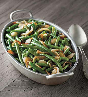 Black Truffle and Almond Green Beans