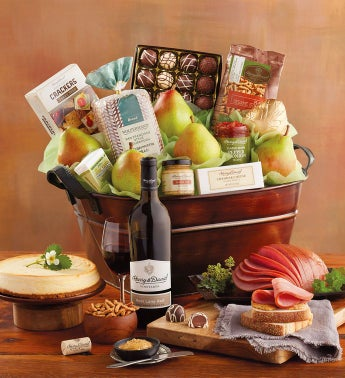 Ham Buffet Gift with Wine