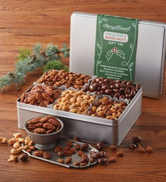 Deluxe Holiday Mixed Nuts Gift Tin