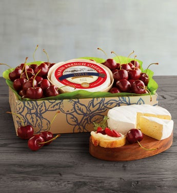 Plump-Sweet Cherries and Triple Cr232me Brie Cheese