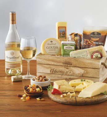 Next day delivery gifts last minute gift baskets harry david gourmet cheese gift with wine snipeimage negle Gallery