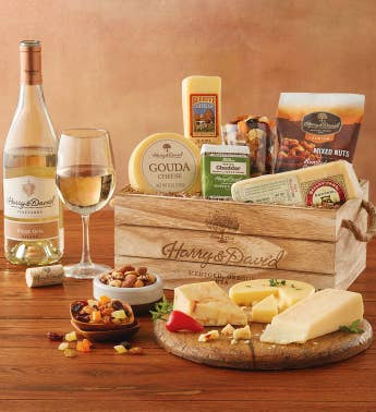 Gifts with wine wine gift sets harry david gourmet cheese gift with wine snipeimage solutioingenieria Images
