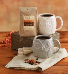 Pumpkin Coffee with Mugs