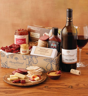 Summer Snacking Gift Box with Wine