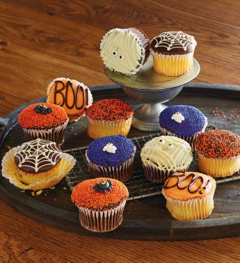 Halloween Dipped Cupcakes