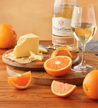 Cara Cara Oranges TouVelle174 Cheese and Harry  Davidtrade Pinot Gris
