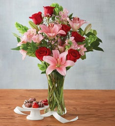 Valentine's Day Bouquet with Heavenly Hearts