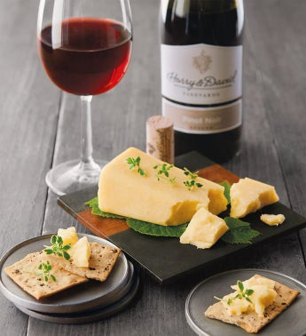 Beehive Cheese Co. Promontory Cheese and Harry & David™ Pinot Noir