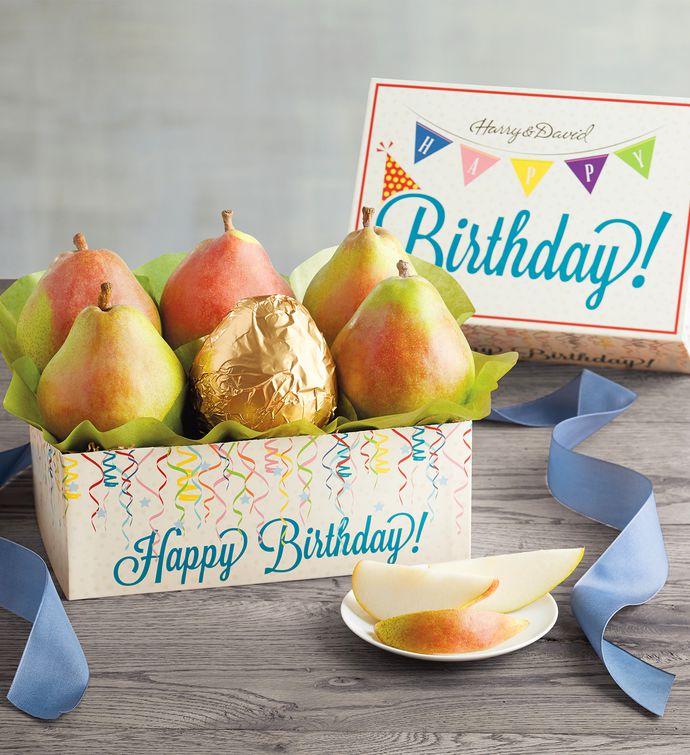 Birthday Pear Gift Box & Birthday Delivery Ideas | Birthday Gift Delivery | Harry u0026 David