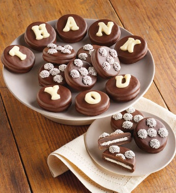Thank you Chocolate-Covered Cookies