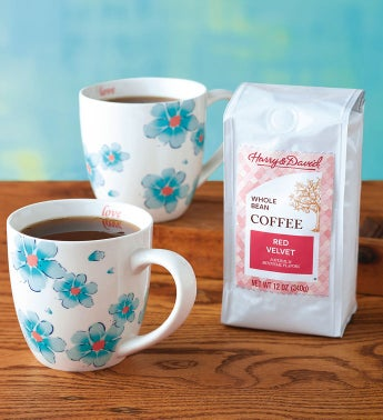 Floral Coffee and Mug Gift