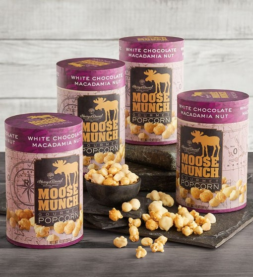 4-Pack Limited Edition Moose Munch® Premium Popcorn - White Chocolate Macadamia Nut