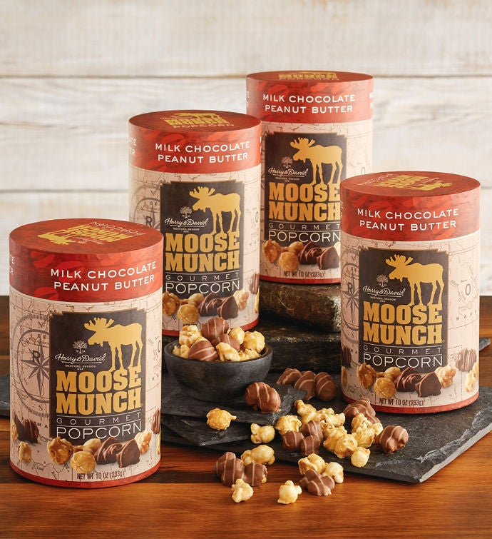 4-Pack Limited Edition Moose Munch® Premium Popcorn - Peanut Butter Chocolate