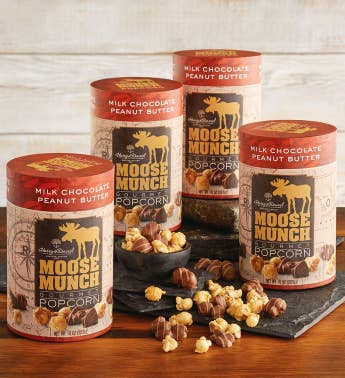 4-Pack Limited Edition Moose Munch174 Premium Popcorn - Peanut Butter Chocolate