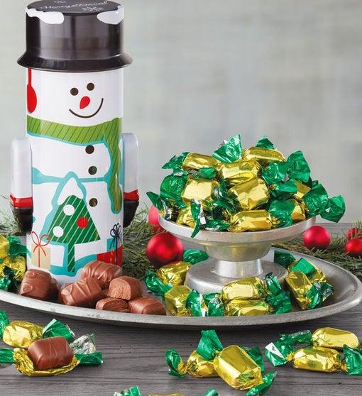 Snowman Tin with Mini Mints